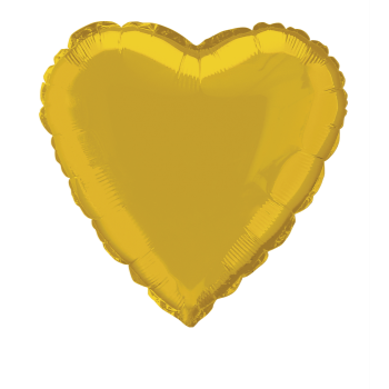 """Image de 18"""" FOIL - GOLD HEART"""