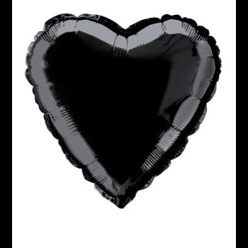 """Image de 18"""" FOIL - BLACK HEART"""
