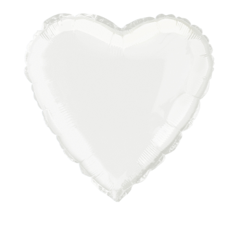 """Image de 18"""" FOIL - WHITE HEART"""
