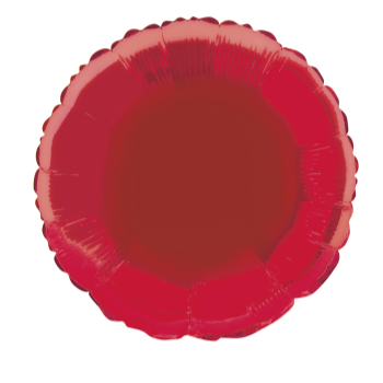 """Picture of 18"""" FOIL - RED ROUND"""