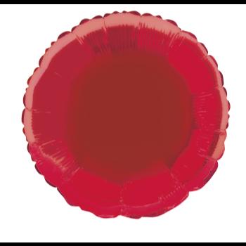 """Image de 18"""" FOIL - RED ROUND"""