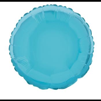 """Image de 18"""" FOIL - BABY BLUE ROUND"""