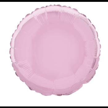 """Image de 18"""" FOIL - PASTEL PINK ROUND"""