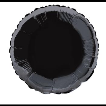 """Image de 18"""" FOIL - BLACK ROUND"""