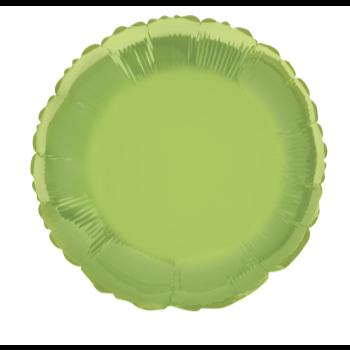 """Image de 18"""" FOIL - LIME GREEN ROUND"""
