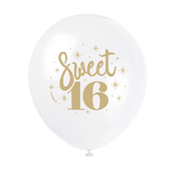 "Picture of 16th - 12"" BALLOONS - SWEET 16"