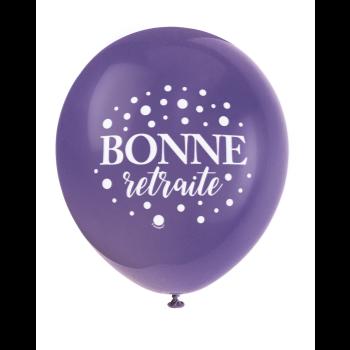 """Picture of 12"""" BALLONS - BONNE RETRAITE"""