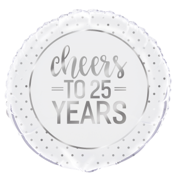 "Picture of 18"" FOIL - CHEERS TO 25 YEARS SILVER"