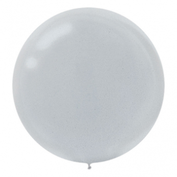 "Picture of 24"" SILVER LATEX BALLOONS - 25CT"