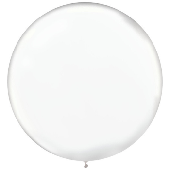 "Picture of 24"" WHITE LATEX BALLOONS - 25CT"