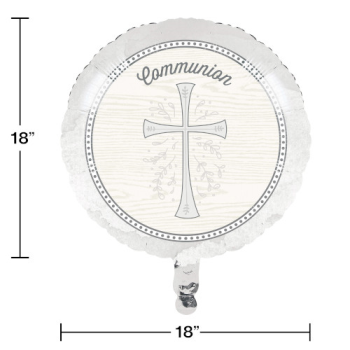 "Picture of 18"" FOIL - DIVINITY SILVER  - COMMUNION"