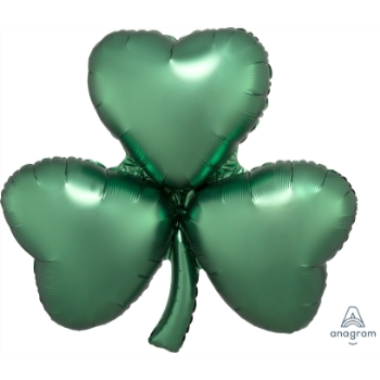 "Picture of 36"" SATIN EMERALD SHAMROCK SUPERSHAPE"