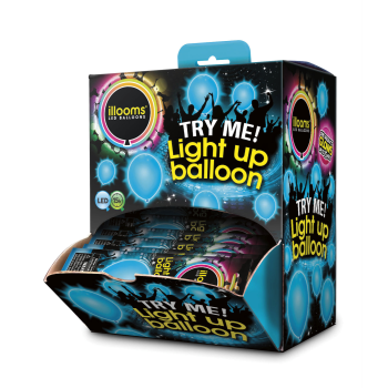 Picture of 15 HOUR LIGHT UP BALLOON - COLOR CHANGING - BLUE