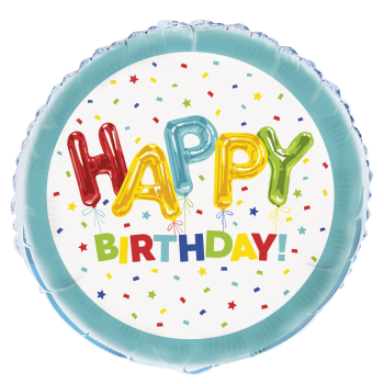 "Image de 18"" FOIL - HAPPY BALLOON BIRTHDAY"