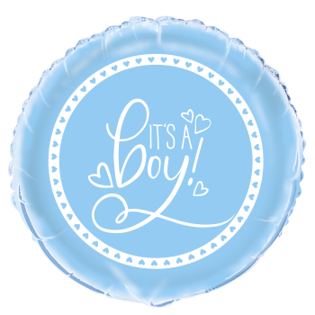 "Image de 18"" FOIL - BLUE HEARTS BABY SHOWER"