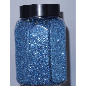 Picture of 16oz GLITTER JAR - LIGHT BLUE