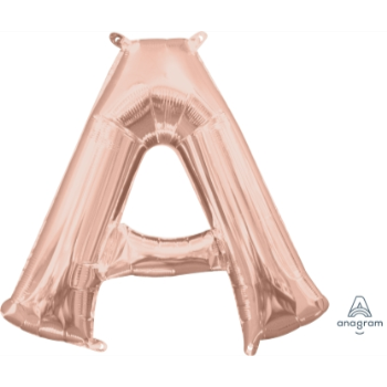 Picture of MINI SHAPE LETTER A  - ROSE GOLD (AIR FILLED)