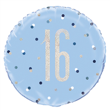 "Image de 18"" FOIL - GLITZ BLUE 16th"