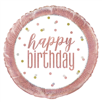 "Image de 18"" FOIL - GLITZ ROSE GOLD HAPPY BIRTHDAY"