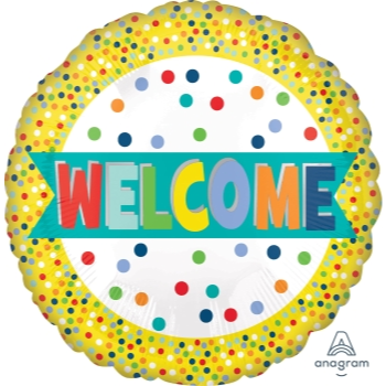 "Picture of 18"" FOIL - WELCOME LOTS OF DOTS"
