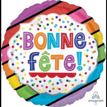 """Picture of 18"""" FOIL - BONNE FÊTE BANDES LUMINEUSES"""
