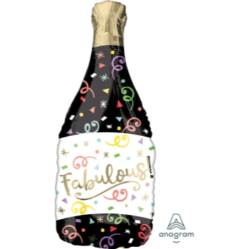 Picture of CONFETTI BUBBLY CHAMPAGNE BOTTLE SUPERSHAPE