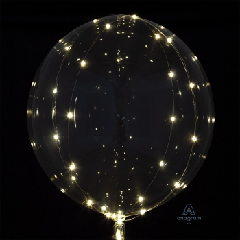Image de CRYSTAL CLEARZ BALLOON WITH WHITE LIGHTS ( BATTERIES NOT INCLUDED )