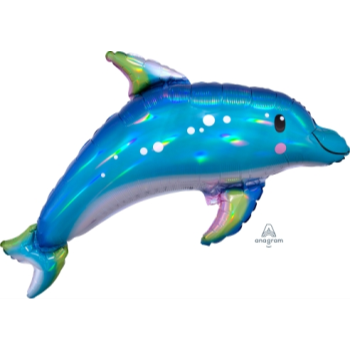 Picture of IRIDESCENT BLUE DOLPHIN SUPERSHAPE