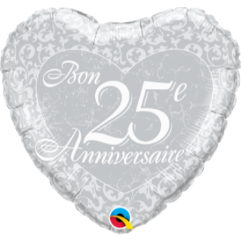 "Picture of 18"" FOIL - 25E ANNIVERSAIRE HEART"