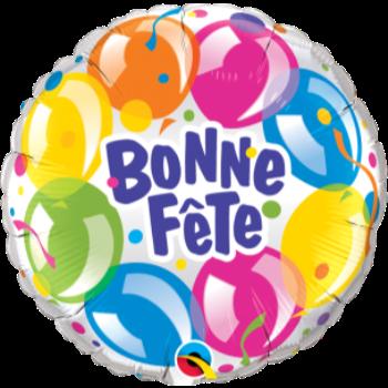 """Picture of 18"""" FOIL - BONNE FÊTE BALLON"""