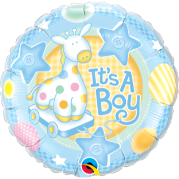 "Image de IT'S A BOY SOFT GIRAFFE 18"" FOIL BALLOON"