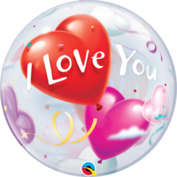 Picture of I LOVE YOU HEARTS BUBBLE BALLOON