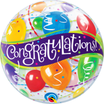 Picture of CONGRATULATIONS BUBBLE BALLOON