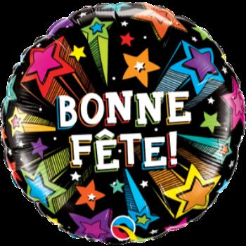 """Picture of 18"""" FOIL - BONNE FÊTE ETOILES FILANTES"""
