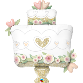 Image de GLITTER GOLD WEDDING CAKE SUPERSHAPE