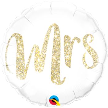 "Picture of 18"" FOIL - MRS GOLD GLITTER"