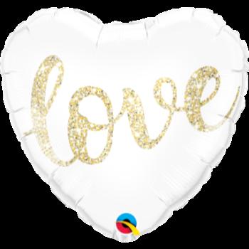 "Image de 18"" FOIL - LOVE GOLD GLITTER"