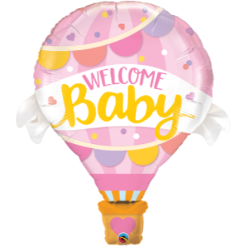 Image de WELCOME BABY PINK BALLOON SUPERSHAPE