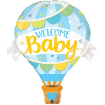 Image de WELCOME BABY BLUE BALLOON SUPERSHAPE