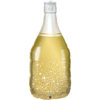 Picture of CHAMPAGNE GOLDEN BUBBLY BOTTLE SUPERSHAPE