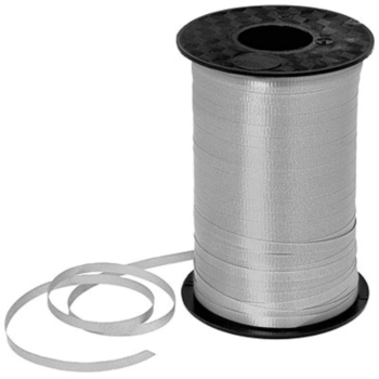 Image de SILVER CRIMPED CURLING RIBBON 500 YRDS