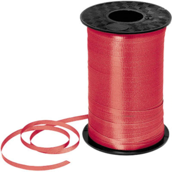 Image de RED CRIMPED CURLING RIBBON 500 YRDS