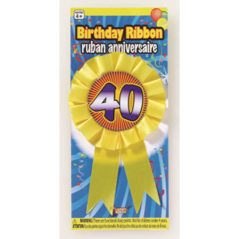 Picture of 40th BIRTHDAY AWARD RIBBON