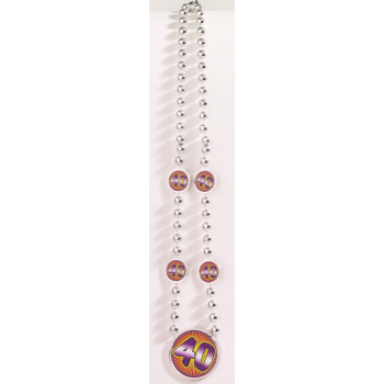 Picture of 40th BIRTHDAY BEAD NECKLACE