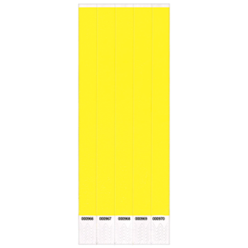 Image de WRISTBANDS YELLOW 100 PACK