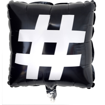 "Picture of 18"" FOIL HASHTAG-AMPERSAND SQUARE"
