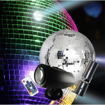 "Picture of ELECTRONICS - Mirror Ball Kit - with 8"" Mirror Ball, Motor, Remote"