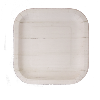 """Picture of 7"""" SQUARE PLATES - SHIP LAP"""