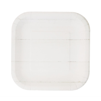 """Picture of 9"""" SQUARE PLATES - SHIP LAP"""