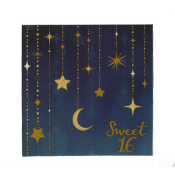 Picture of 16th STARRY NIGHT LUNCHEON NAPKINS- SWEET 16th